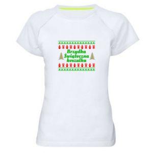 Koszulka sportowa damska Brzydka świąteczna koszulka