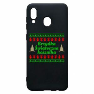 Etui na Samsung A20 Brzydka świąteczna koszulka