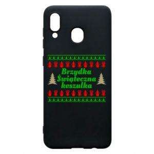 Etui na Samsung A30 Brzydka świąteczna koszulka