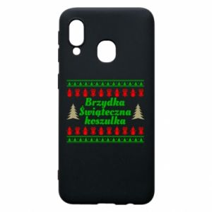 Etui na Samsung A40 Brzydka świąteczna koszulka