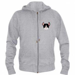 Męska bluza z kapturem na zamek Bulldog smoking