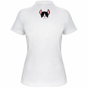 Women's Polo shirt Bulldog smoking