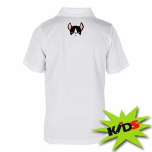 Koszulka polo dziecięca Bulldog smoking