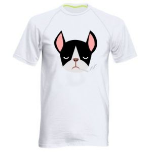 Męska koszulka sportowa Bulldog smoking