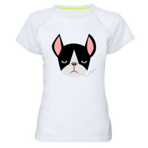 Koszulka sportowa damska Bulldog smoking