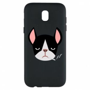 Phone case for Samsung J5 2017 Bulldog smoking