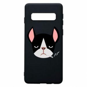Phone case for Samsung S10 Bulldog smoking