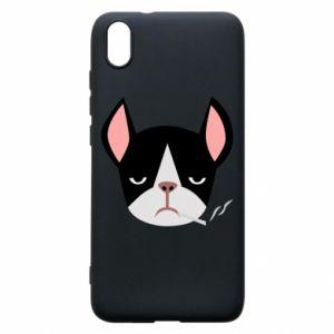 Phone case for Xiaomi Redmi 7A Bulldog smoking