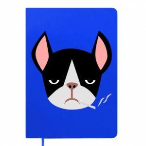 Notepad Bulldog smoking