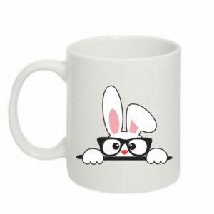 Kubek 330ml Bunny with glasses