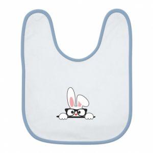 Śliniak Bunny with glasses