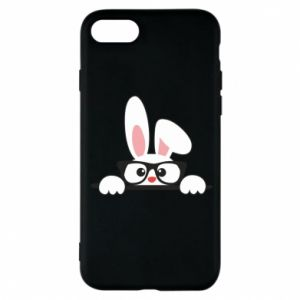 Phone case for iPhone 8 Bunny with glasses - PrintSalon