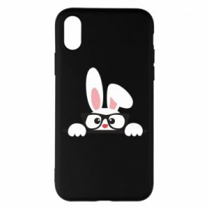 Phone case for iPhone X/Xs Bunny with glasses - PrintSalon