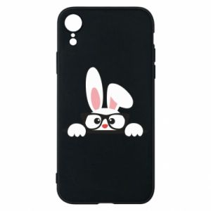 Phone case for iPhone XR Bunny with glasses - PrintSalon