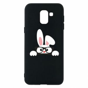 Phone case for Samsung J6 Bunny with glasses - PrintSalon