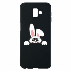 Phone case for Samsung J6 Plus 2018 Bunny with glasses - PrintSalon