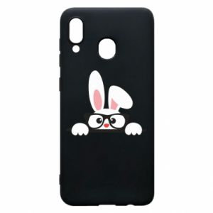 Phone case for Samsung A20 Bunny with glasses - PrintSalon