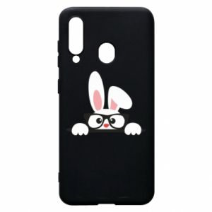 Phone case for Samsung A60 Bunny with glasses - PrintSalon
