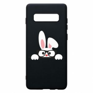 Phone case for Samsung S10+ Bunny with glasses - PrintSalon