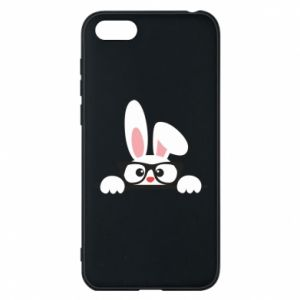 Phone case for Huawei Y5 2018 Bunny with glasses - PrintSalon