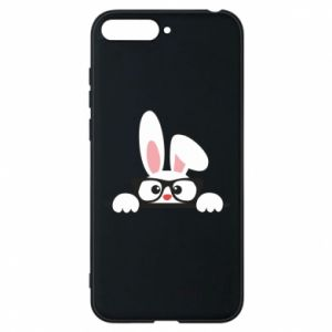 Phone case for Huawei Y6 2018 Bunny with glasses - PrintSalon