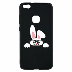 Phone case for Huawei P10 Lite Bunny with glasses - PrintSalon
