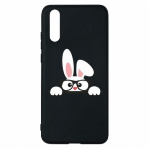 Phone case for Huawei P20 Bunny with glasses - PrintSalon