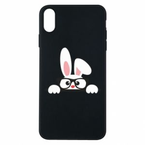 Etui na iPhone Xs Max Bunny with glasses
