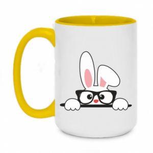 Kubek dwukolorowy 450ml Mały królik w okularach