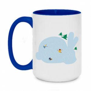 Two-toned mug 450ml Bunny