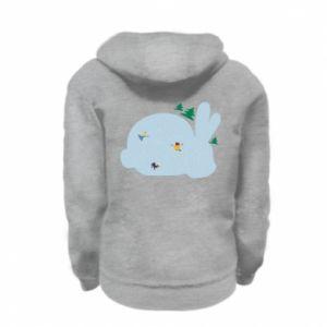 Kid's zipped hoodie % print% Bunny