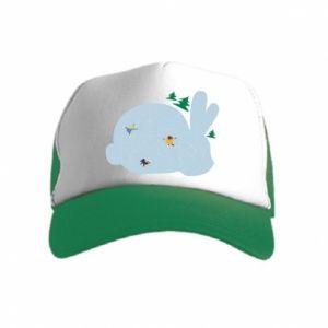 Kid's Trucker Hat Bunny