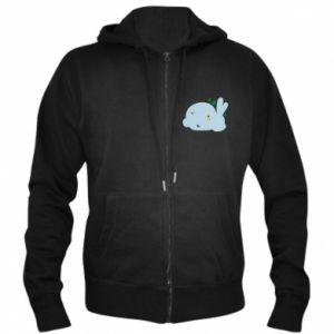 Men's zip up hoodie Bunny - PrintSalon