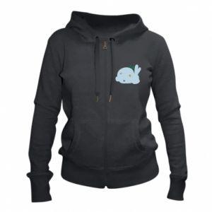 Women's zip up hoodies Bunny - PrintSalon