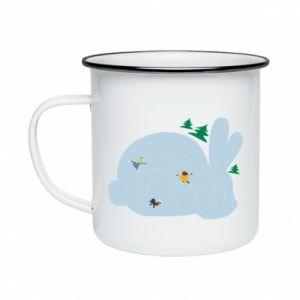 Enameled mug Bunny - PrintSalon
