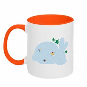 Two-toned mug Bunny - PrintSalon