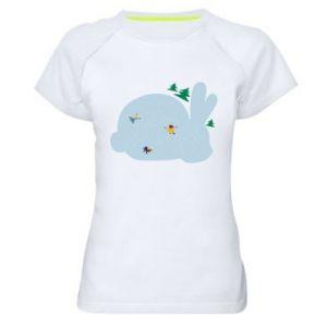 Women's sports t-shirt Bunny - PrintSalon