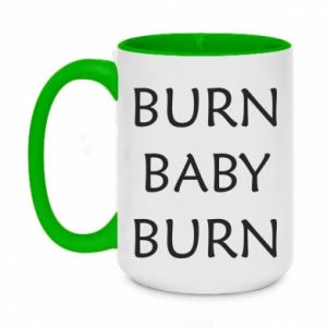 Kubek dwukolorowy 450ml Burn baby burn