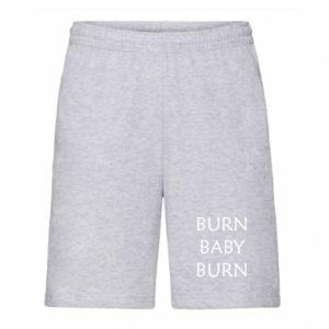 Męskie szorty Burn baby burn