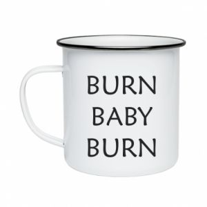 Kubek emaliowane Burn baby burn