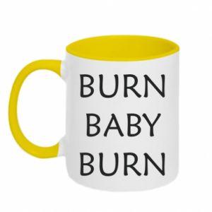 Kubek dwukolorowy Burn baby burn