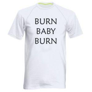 Męska koszulka sportowa Burn baby burn