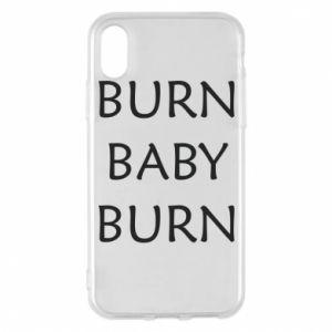 Etui na iPhone X/Xs Burn baby burn