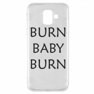 Etui na Samsung A6 2018 Burn baby burn