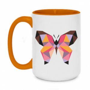 Kubek dwukolorowy 450ml Butterfly graphics