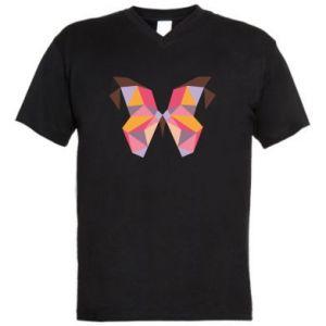 Męska koszulka V-neck Butterfly graphics