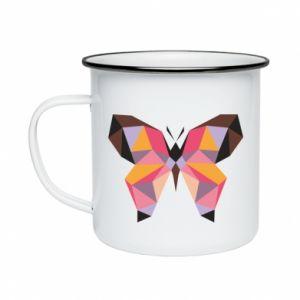 Enameled mug Butterfly graphics - PrintSalon