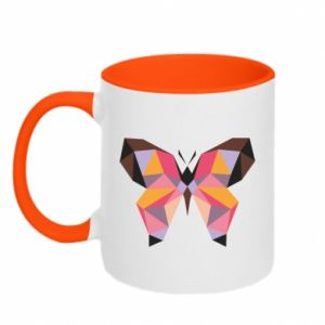 Two-toned mug Butterfly graphics