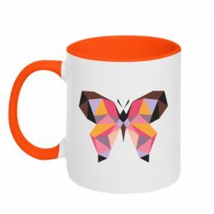Two-toned mug Butterfly graphics - PrintSalon