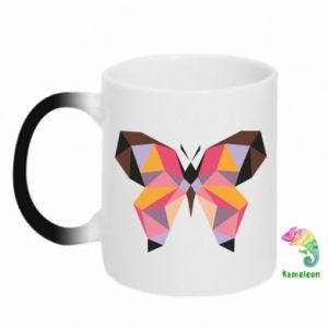 Kubek-kameleon Butterfly graphics